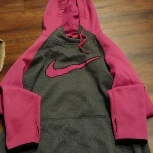 pink-grey Nike hoodie
